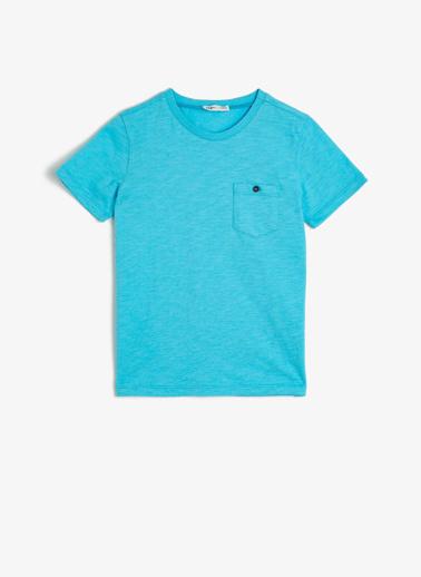 Koton Kids Bisiklet Yaka T-Shirt Mavi